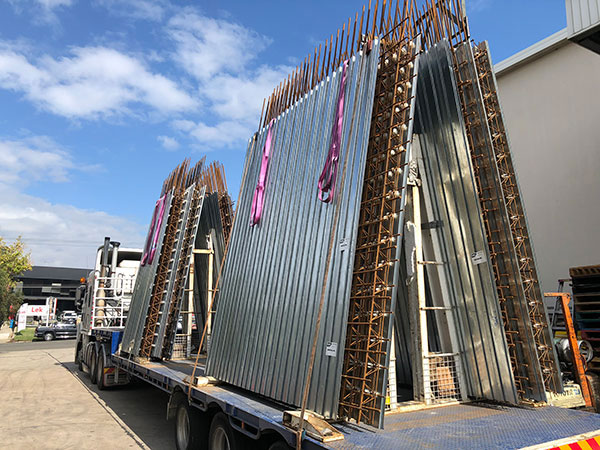 Transportation of 3.8 metre long walls